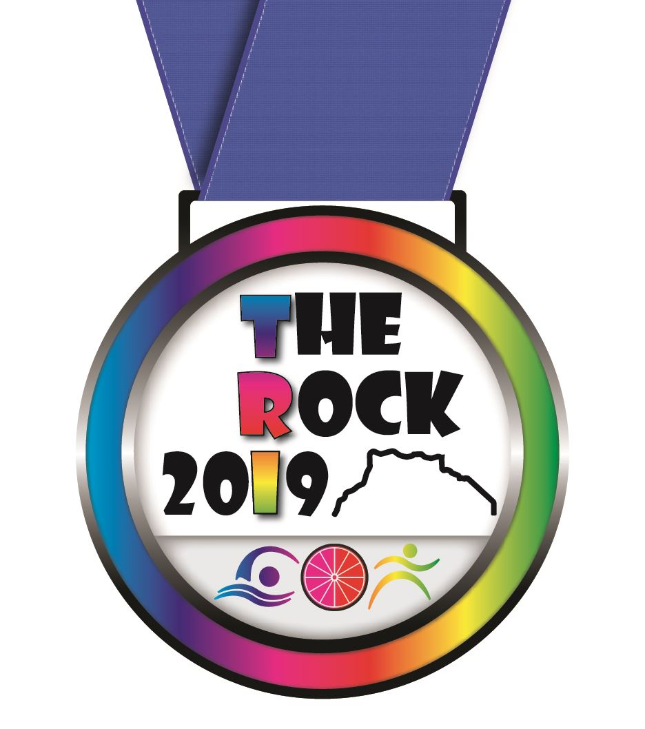 TRI the Rock logo 2019 Medal