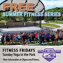 Free fitness classes held on Fridays and Sundays at Philip S. Miller Park for the summer