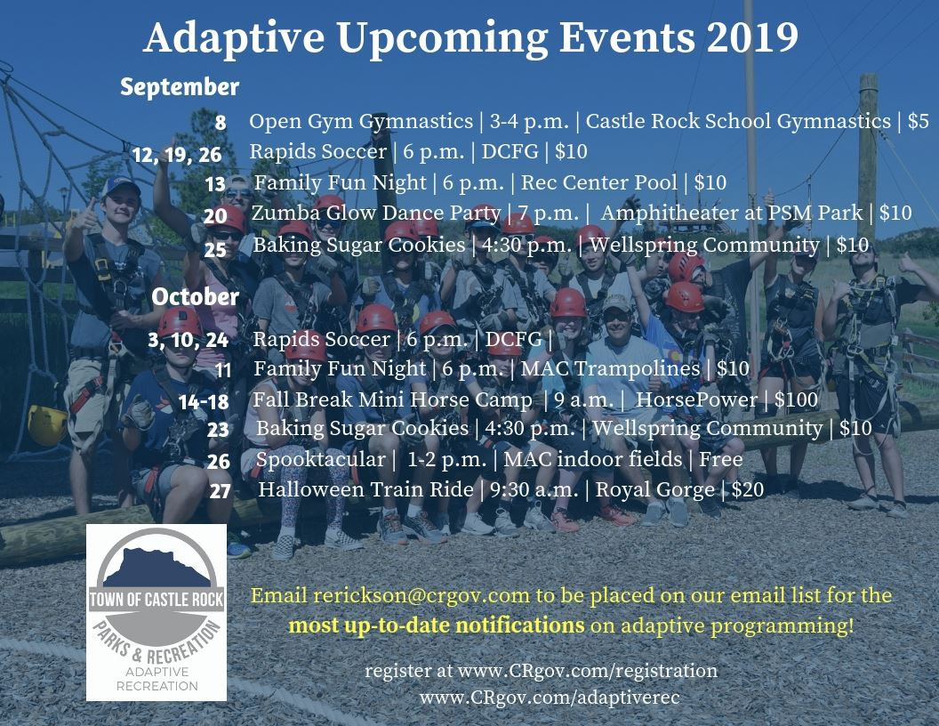 Adaptive Rec Sept. and Oct. Events