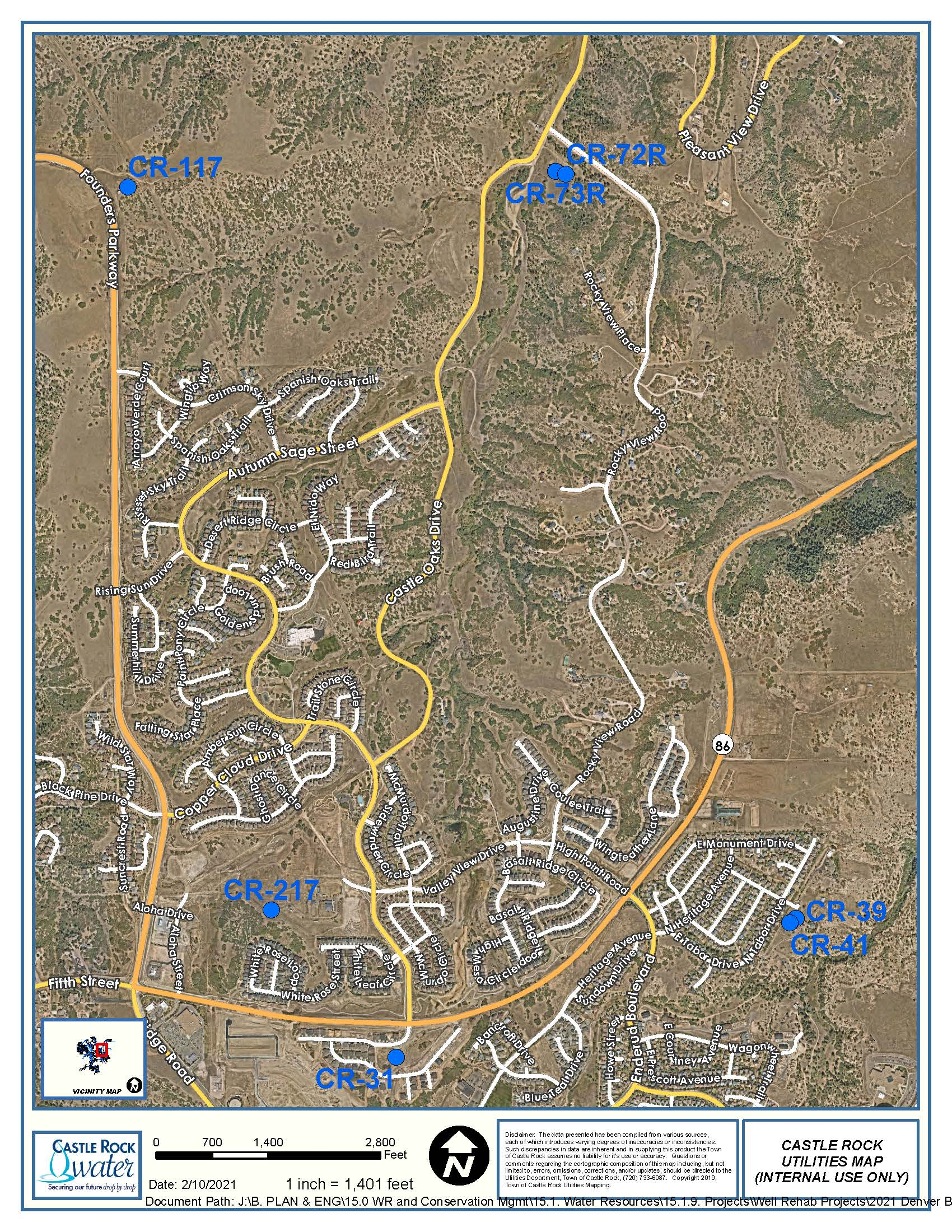 2021 Denver Basin Well Rehab Founders Map