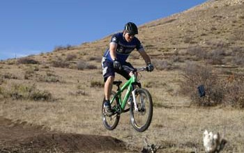 Mountain Biker at Rhyolite Bike Park