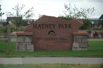 Matney Park Entrance Sign