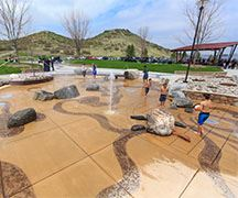 Splash pad and pavilion