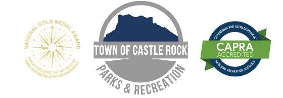 NRPA Gold Medal Award logo, Parks and Recreation logo, CAPRA Accreditation logo