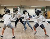 Fencing class at the Rec Center