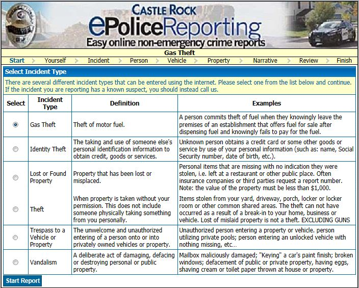 ePolice Reporting