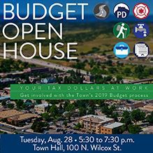 Budget Open House graphic