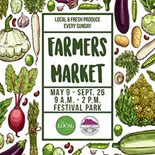 Farmers Market May 9-Sept. 26, 9 a.m.-2 p.m., Festival Park
