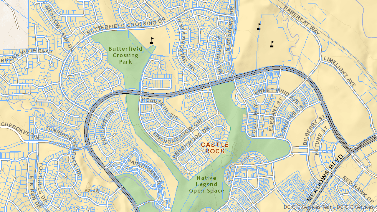 Butterfield Crossing Park map